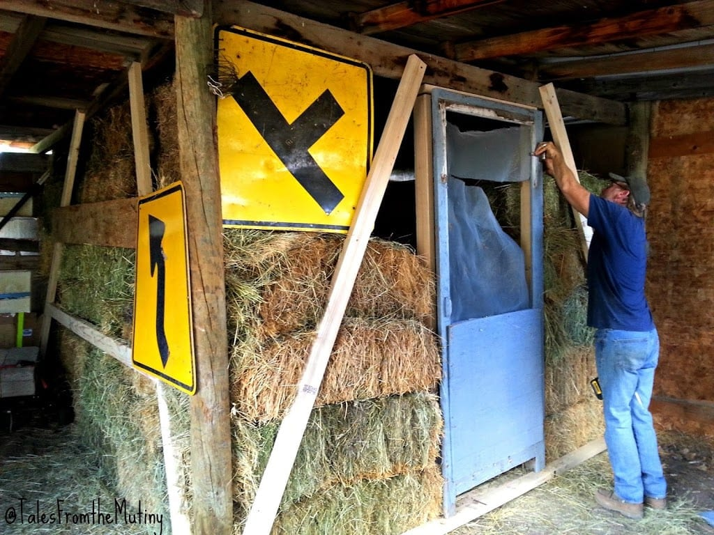 The Mutiny Ranch Builds A Chicken Hay Fort Tales From